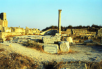 Libia  Sabratha .Citt&agrave;  romana a circa 67km da Tripoli.I resti del Tempio di Ercole.<br />