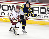 Patch Alber (BC - 27), Stephane Da Costa (Merrimack - 24) - The Boston College Eagles defeated the visiting Merrimack College Warriors 3-2 on Friday, October 29, 2010, at Conte Forum in Chestnut Hill, Massachusetts.