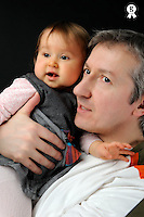 Father holding his baby girl (1) (Licence this image exclusively with Getty: http://www.gettyimages.com/detail/84869047 )