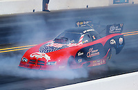 Jul. 26, 2014; Sonoma, CA, USA; NHRA funny car driver Gary Densham during qualifying for the Sonoma Nationals at Sonoma Raceway. Mandatory Credit: Mark J. Rebilas-