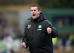 St Johnstone v Celtic.....14.02.15<br /> Celtic manager Ronnie Deila does his usual with the Celtic fans at full time<br /> Picture by Graeme Hart.<br /> Copyright Perthshire Picture Agency<br /> Tel: 01738 623350  Mobile: 07990 594431