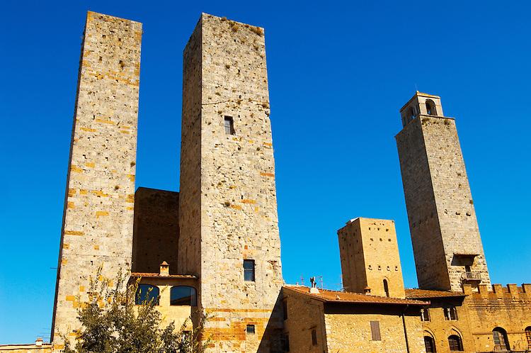Medieval Towers around Plazza Duomo - San Gimignano - Italy
