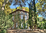 The Jas de Bouffan, in Aix-en-Provence, France, was the principal residence of the Cézanne family from 1859 to 1899 and the site of Paul Cézanne's first efforts as an artist. This photo is currently on display at the recently opened Centre d'Art located at the Hôtel de Caumont, in Aix-en-Provence, as part of an informational display about the life of Cézanne.