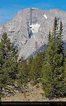 Middle Teton, Black Dike basaltic intrusion, Grand Teton National Park, Wyoming