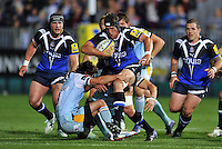 Ben Skirving goes on the charge. Aviva Premiership match, between Bath Rugby and Northampton Saints on September 14, 2012 at the Recreation Ground in Bath, England. Photo by: Patrick Khachfe / Onside Images