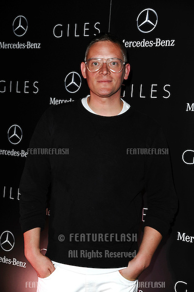 designer, Giles Deacon.arrives for the Giles after show party, Covent garden, London19/09/2011  Picture by Steve Vas/Featureflash