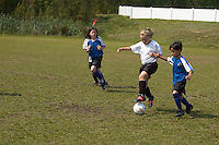 girls and boys play in youth soccer league , Richmond, VA