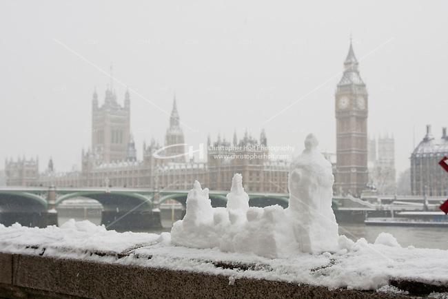 heavy snow fall in london february 2009