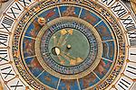 Clock on the 16th century clock tower in the Piazza Loggia in Brescia, Italy