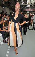 Amber Le Bon at the Mary Katrantzou LFW s/s 2017 catwalk show, BFC Show Space, Brewer Street Car Park, Brewer Street, London, England, UK, on Sunday 18 September 2016.<br /> CAP/CAN<br /> &copy;CAN/Capital Pictures /MediaPunch ***NORTH AND SOUTH AMERICAS ONLY***