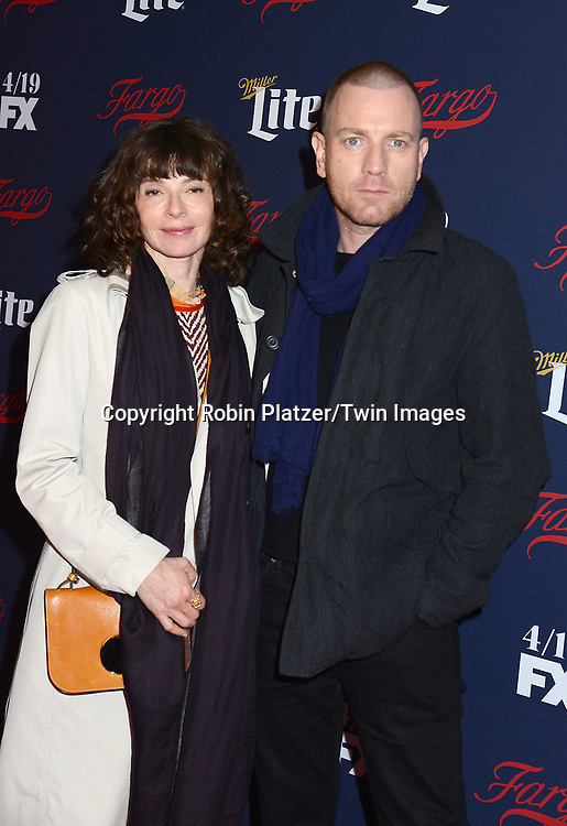 Ewan McGregor  &amp; wife Eve Mavrakis attend FX's 2017 All-Star Upfront on  April 6, 2017 at SVA Theater in New York, New York, USA. <br /> <br /> photo by Robin Platzer/Twin Images<br />  <br /> phone number 212-935-0770