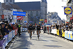 Team Sky head to sign on before the start of Gent-Wevelgem in Flanders Fields 2017, running 249km from Denieze to Wevelgem, Flanders, Belgium. 26th March 2017.<br /> Picture: Eoin Clarke | Cyclefile<br /> <br /> <br /> All photos usage must carry mandatory copyright credit (&copy; Cyclefile | Eoin Clarke)