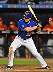 5 March 2012: New York Mets infielder Daniel Murphy in action during a Spring Training game against the Washington Nationals at Digital Domain Park in Port St. Lucie, Florida. The Nationals defeated the Mets 3-1 in Grapefruit League play. Mandatory Credit: Ed Wolfstein Photo