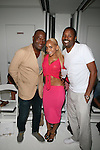 Carl Nelson, Richelle and Guest  Attend Edwing D'Angelo Spring Summer 2014 Presentation Held at Studio 450, NY