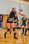 7 October 2014: The Vermont Commons School Flying Turtles visit the Essex High Hornets at Essex High School in Essex Junction, Vermont. High School Volleyball has been granted a two-year exhibition status in the State of Vermont starting with the 2013 season and ending this season, in effort to attain full varsity status. Mandatory Credit: Ed Wolfstein Photo *** RAW (NEF) Image File Available ***