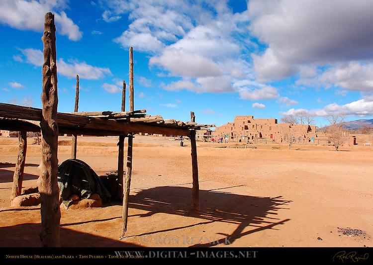 North House Hlauuma and Plaza, Taos Pueblo, Taos, New Mexico