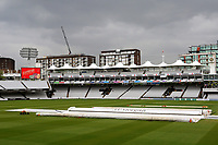 The covers are on the pitch as rain delays play during Middlesex CCC vs Essex CCC, Specsavers County Championship Division 1 Cricket at Lord's Cricket Ground on 24th April 2017