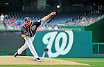 5 September 2011: Washington Nationals pitcher John Lannan on the mound against the Los Angeles Dodgers at Nationals Park in Los Angeles, District of Columbia. The Nationals defeated the Dodgers 7-2 in the first game of their 4-game series. Mandatory Credit: Ed Wolfstein Photo