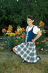 Teen highland dancer