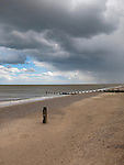 Dramatic Sky over Southwold Beach, Suffolk, UK