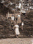 North East PA: A family photograph taken on the Lake Erie shore - 1904.  During the early 1900s, the Stewart family vacationed on Lake Erie near North East Pennsylvania. Since hotels and motels were non-existent, camping was the only viable option for a large number of vacationers
