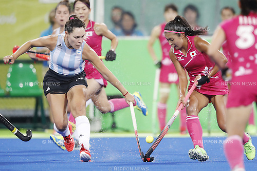 Aki Mitsuhashi (JPN),<br /> AUGUST 8, 2016 - Hockey : <br /> Women's Pool Match <br /> between Japan Women's 0-4 Argentina Women's <br /> at Olympic Hockey Centre <br /> during the Rio 2016 Olympic Games in Rio de Janeiro, Brazil. <br /> (Photo by Yusuke Nakanishi/AFLO SPORT)