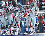 Ole Miss running back Jeff Scott (3) runs 83 yards for a touchdown against Auburn in a college football game on Saturday, October 30, 2010. Auburn won 51-31.
