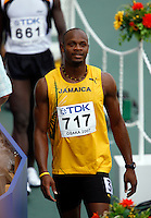Asafa Powell of Jamaica view the result board after his 1st. round heat in the 100m dash with a time of 10.34sec. at the 11th. IAAF World Championships held in Osaka, Japan on Saturday, August 25, 2007. Photo by Errol Anderson,The Sporting Image.Assorted images of the 11th. World  Track and Field Championships held in Osaka, Japan.