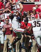 Columbia, SC - October 9, 2016: The University of South Carolina Gamecocks vs the University of Georgia Bulldogs at Williams-Brice Stadium. Final score Georgia 28, South Carolina 14.