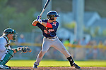 30 June 2012: Lowell Spinners infielder Mike Miller at bat against the Vermont Lake Monsters at Centennial Field in Burlington, Vermont. Mandatory Credit: Ed Wolfstein Photo