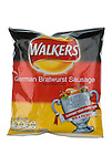 Packet of Walkers World Cup German Bratwurst Sausage Flavour Crisps - May 2010
