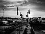 tents and caravans at festival