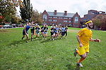 09/25/2011 - Medford/Somerville, Mass. - Students play quidditch during Tufts University's Community Day on Sunday, September 25, 2011. (Everett Wallace for Tufts University)