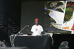 DJ Alamo of Brand Nubians Spinnin at Rock Steady Crew 36th Year Anniversary Celebration at Central Park's SummerStage, NY