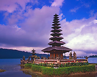 Pura Ulun Danu Bratan Temple, Hindu Temple Dedicated to Lake Goddess, Island of Bali, Lake Bratan, Indonesia