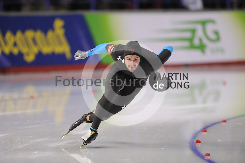 SCHAATSEN: CALGARY: Olympic Oval, 08-11-2013, Essent ISU World Cup, 500m, Mitchell Whitmore (USA), ©foto Martin de Jong