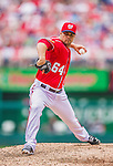 22 September 2013: Washington Nationals pitcher Xavier Cedeno on the mound against the Miami Marlins at Nationals Park in Washington, DC. The Marlins defeated the Nationals 4-2 in the first game of their day/night double-header. Mandatory Credit: Ed Wolfstein Photo *** RAW (NEF) Image File Available ***