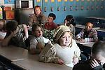 Students in Mrs. Hogan's 3rd grade class at Beattyville Elementary School listen to a storyteller on Appalachian Day on Friday, October 1, 2010..Photo by Latara Appleby