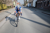 Iljo Keisse (BEL/Quick-Step floors) chasing back into the pack<br /> <br /> 60th E3 Harelbeke (1.UWT)<br /> 1day race: Harelbeke &rsaquo; Harelbeke - BEL (206km)