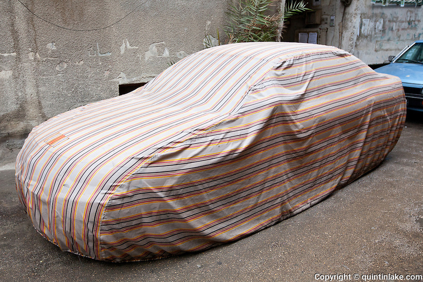 Covered car in Damascus, Syria