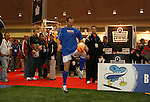 17 January 2008: Former U.S. National teamer Thomas Dooley shows off his skills during a demonstration. The 2008 National Soccer Coaches Association of America's annual convention was held at the Convention Center in Baltimore, Maryland.