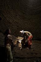 Brick making is typically a manual process a Brick Kiln in the rural area of Battambang