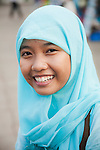 A young Indonesian girl in Jakarta.<br /> Various scenes of the city of Jakarta in Indonesia.