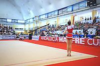 Silviya Miteva of Bulgaria begins routine during event finals at 2010 Grand Prix Marbella at San Pedro Alcantara, Spain on May 16, 2010.  Silviya placed 9th AA at Marbella. (Photo by Tom Theobald).