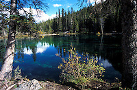 Grassi Lakes trail is a nice, short trail and popular with sport clibers because of the rocks at the end of the trail. The trail leads to two small beautiful turquoise - green lakes and climbing rocks.  There are actually two trails. From slightly more difficult trail it s possible to see Canmore and the Bow Valley.<br />