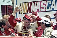 Bobby Allison victory lane Pepsi Firecracker 400 Daytona International Speedway Daytona Beach FL July 1987 (Photo by Brian Cleary/www.bcpix.com)