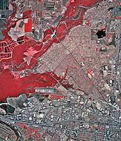 historical infrared aerial photograph of Cornoa, California, 2002