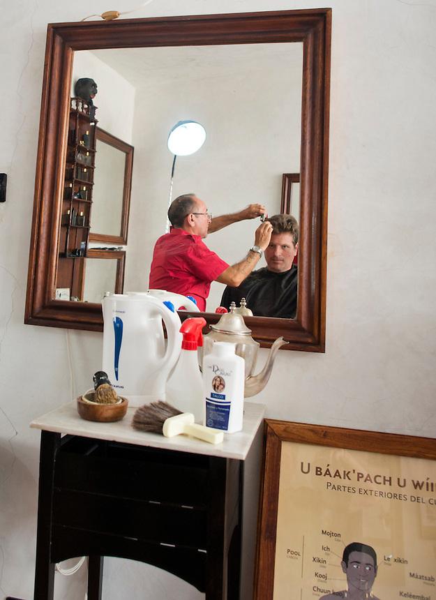 Coqui Coqui, barbershop, boutique hotel, cafe, spa, and perfumerie. Valladolid, Yucatan, Mexico