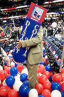 TAMPA, FL - August 30, 2012: The floor at the Tampa Bay Times Forum at the conclusion of the 2012 Republican National Convention.