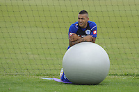Danny Simpson of QPR in training